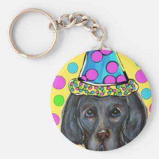 Weim Party Dog Keychain