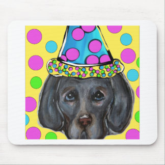 Weim Party Dog Mouse Pad