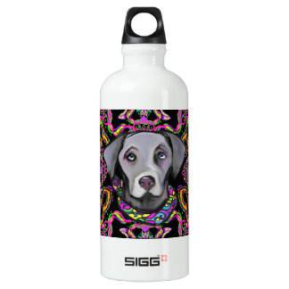 WEIMARANA MARDI GRAS WATER BOTTLE