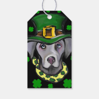 Weimarana ST Patty Gift Tags