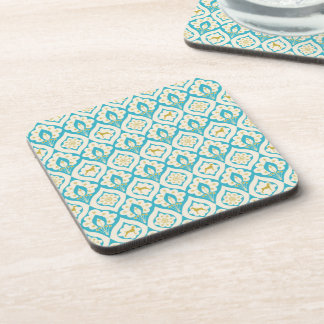 WEIMARANER AND PEACOCK FEATHERS COASTER SET OF 6