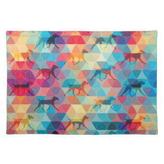 WEIMARANER AND TRIANGLES PLACEMAT