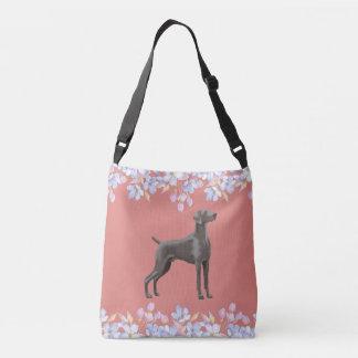 Weimaraner Bag/Tote Dusky Peach Crossbody Bag