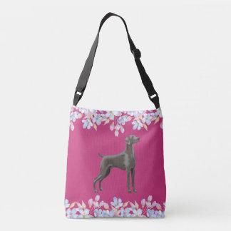 Weimaraner Bag/Tote Fuscia Crossbody Bag