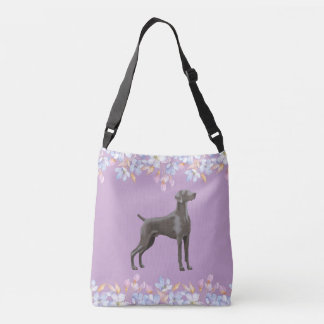 Weimaraner Bag/Tote Lilac Crossbody Bag