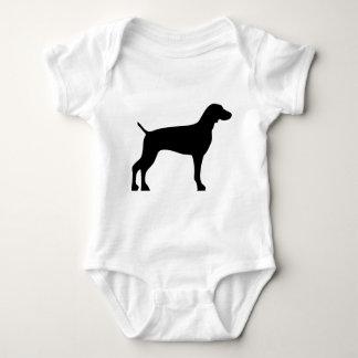 weimaraner-black baby bodysuit