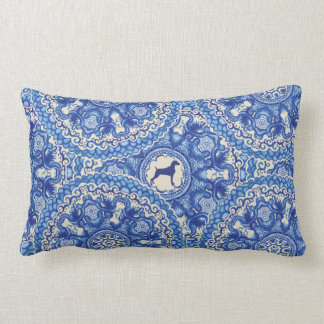 Weimaraner Blu China Design Lumbar Pillow