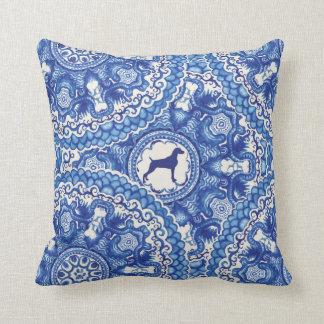 """Weimaraner Blu China Design Square Pillow 16""""x16"""""""