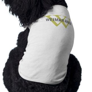 Weimaraner Breed Monogram Design Dog Clothes