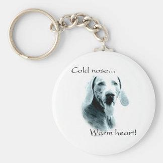 Weimaraner Cold Nose, Warm Heart Keychain