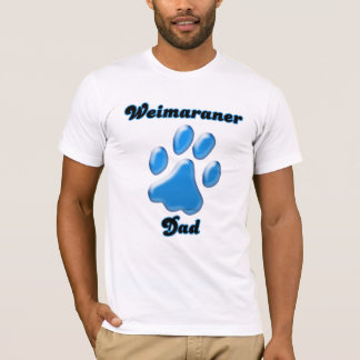 Weimaraner Dad blue Pawprint  T-Shirt