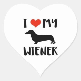 Weimaraner design heart sticker