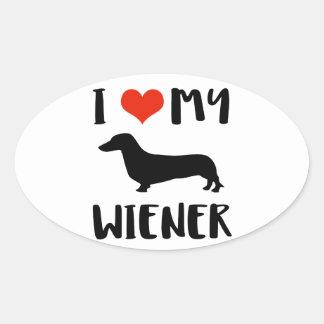 Weimaraner design oval sticker