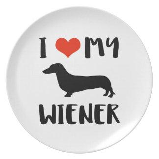 Weimaraner design plate