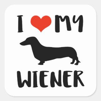 Weimaraner design square sticker