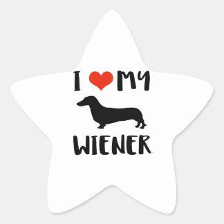 Weimaraner design star sticker