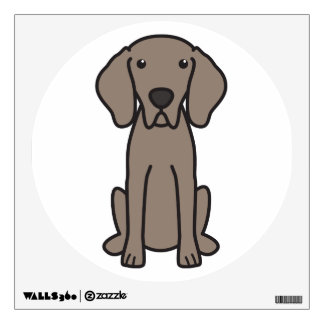 Weimaraner Dog Cartoon Wall Sticker