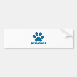 WEIMARANER DOG DESIGNS BUMPER STICKER