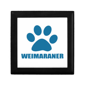 WEIMARANER DOG DESIGNS GIFT BOX