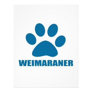 WEIMARANER DOG DESIGNS LETTERHEAD