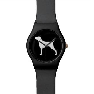 Weimaraner Dog Silhouette Watch