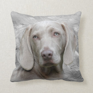 Weimaraner face throw pillow
