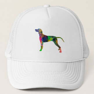 Weimaraner in watercolor trucker hat