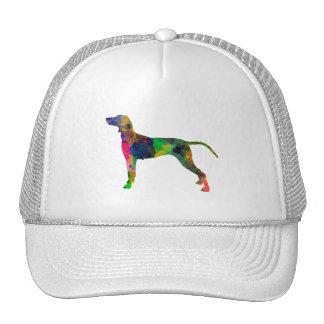Weimaraner in watercolor trucker hat