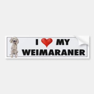 Weimaraner love sticker