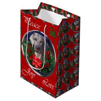 Weimaraner Lovers Christmas Medium Gift Bag