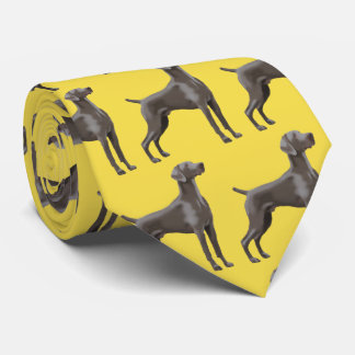 Weimaraner Neck Tie Yellow