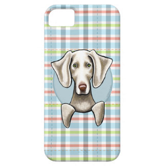 Weimaraner Pale Plaid Case For The iPhone 5