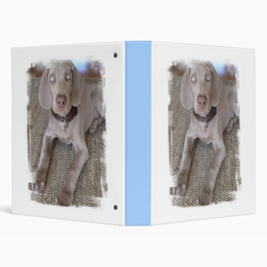 Weimaraner Puppy Dog Binder