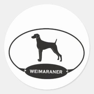 Weimaraner Round Sticker