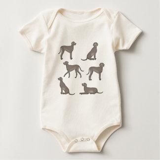 Weimaraner selection baby bodysuit