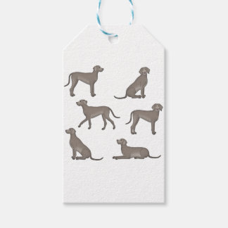 Weimaraner selection gift tags