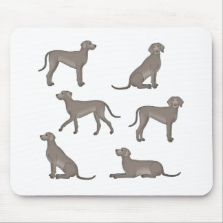 Weimaraner selection mouse pad
