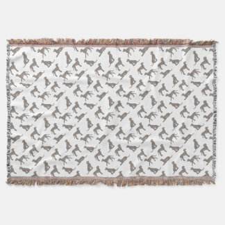 Weimaraner selection throw blanket