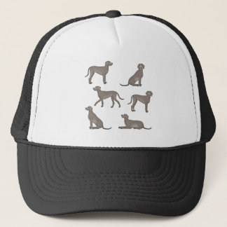 Weimaraner selection trucker hat