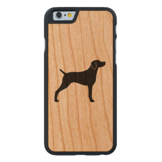 Weimaraner Silhouette Carved Cherry iPhone 6 Case
