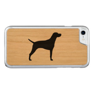 Weimaraner Silhouette Carved iPhone 8/7 Case