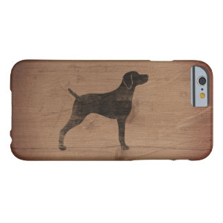 Weimaraner Silhouette Rustic Barely There iPhone 6 Case