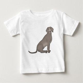 Weimaraner sits baby T-Shirt