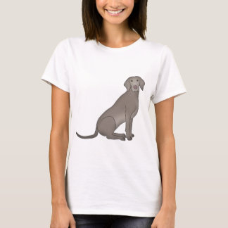 Weimaraner sits T-Shirt