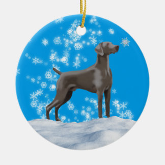 Weimaraner Snowflake Holiday Ornament