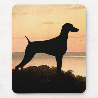 Weimaraner Sunset Mouse Pad