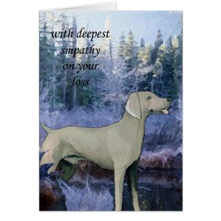 weimaraner_sympathy_card card