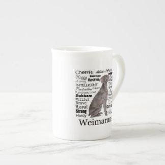 Weimaraner Traits Bone China Mug