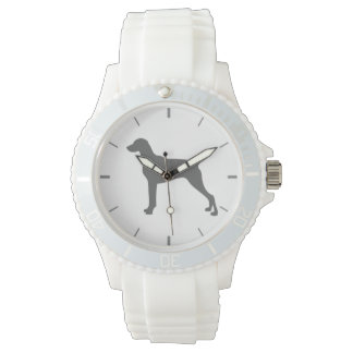 Weimaraner White Silicone Wiener Dog Watch