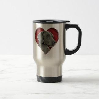 Weimaraner with Heart Travel Mug